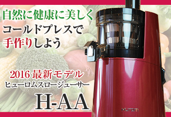 ヒューロムスロージューサーH-AA